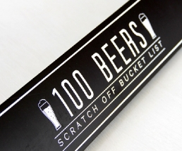 100 Beers Scratch Off Bucket List