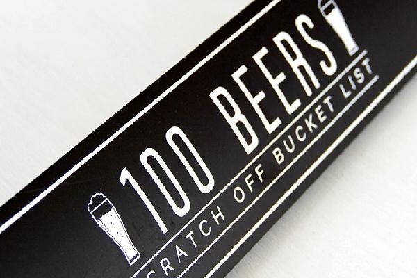 100 Beers Scratch Off Bucket List