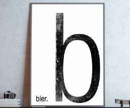 Bier Typo Poster