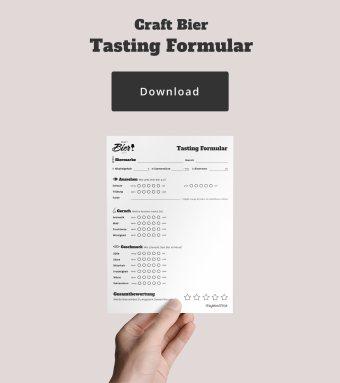 Craft Bier Tasting Formular