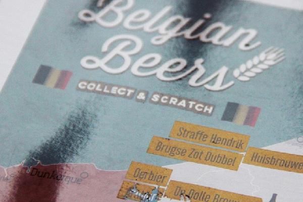 Scratch Off Beer Map