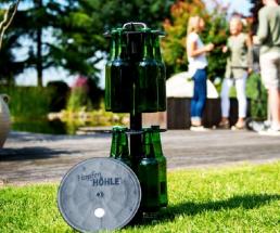 Bier frisch gekühlt direkt aus dem Garten