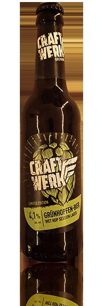 Craftwerk Grünhopfen-Bier flasche