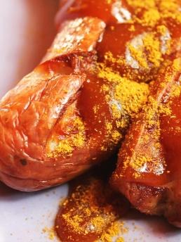Currywurst mit Bier post