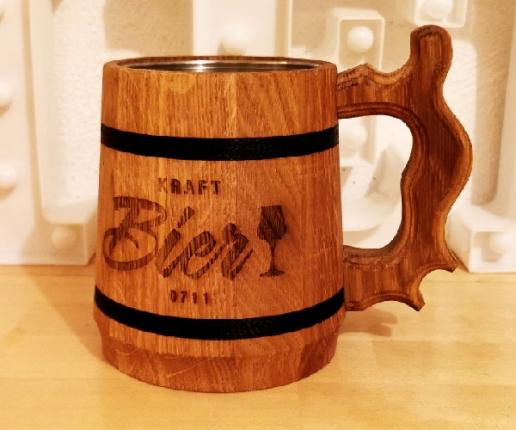 Geschenkissimo Holz Bierkrug