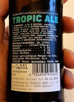 Heubacher Tropicale Etikett