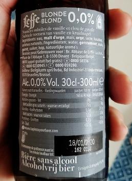 Leffe Blond alkoholfrei etikett