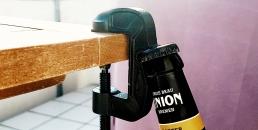 G-Clamp Bottle Opener table