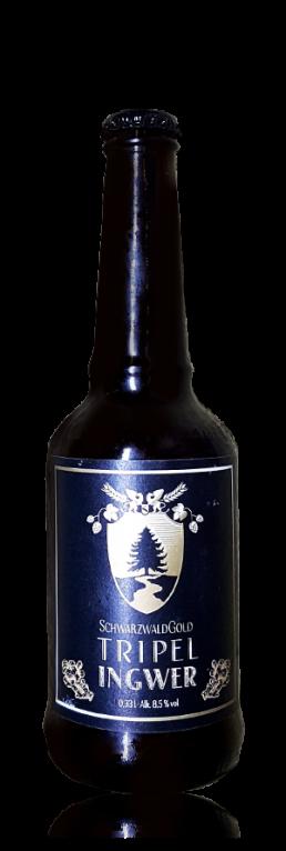 Schwarzwaldgold Tripel Ingwer flasche
