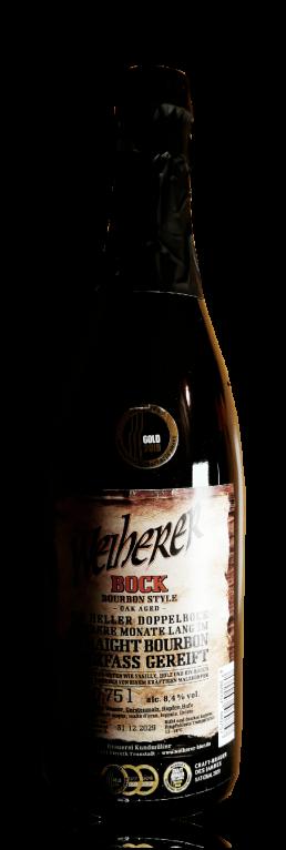 Brauerei Kundmüller Weiherer Bier Bourbon Bock flasche