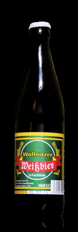 Wöllnitzer Weißbier flasche